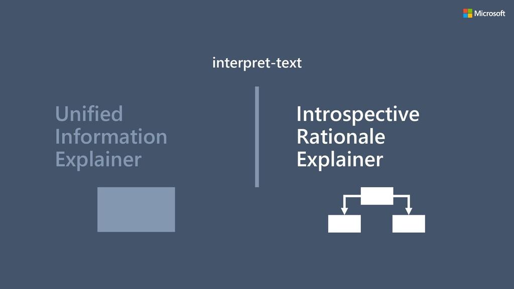 Unified Information Explainer Introspective Rat...
