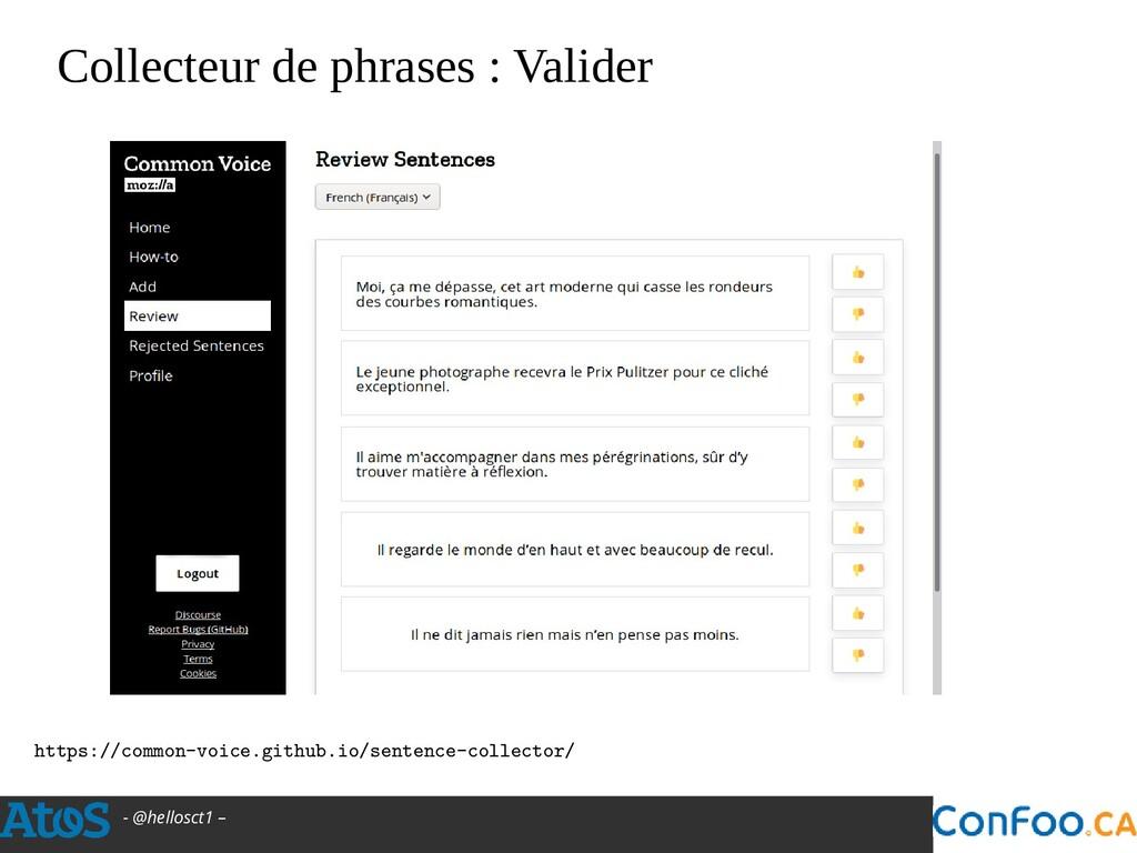 - @hellosct1 – Collecteur de phrases : Valider ...