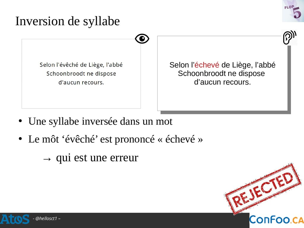- @hellosct1 – Inversion de syllabe ● Une sylla...