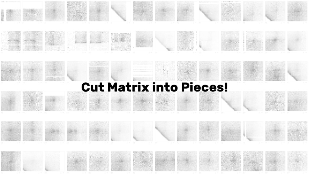Cut Matrix into Pieces!
