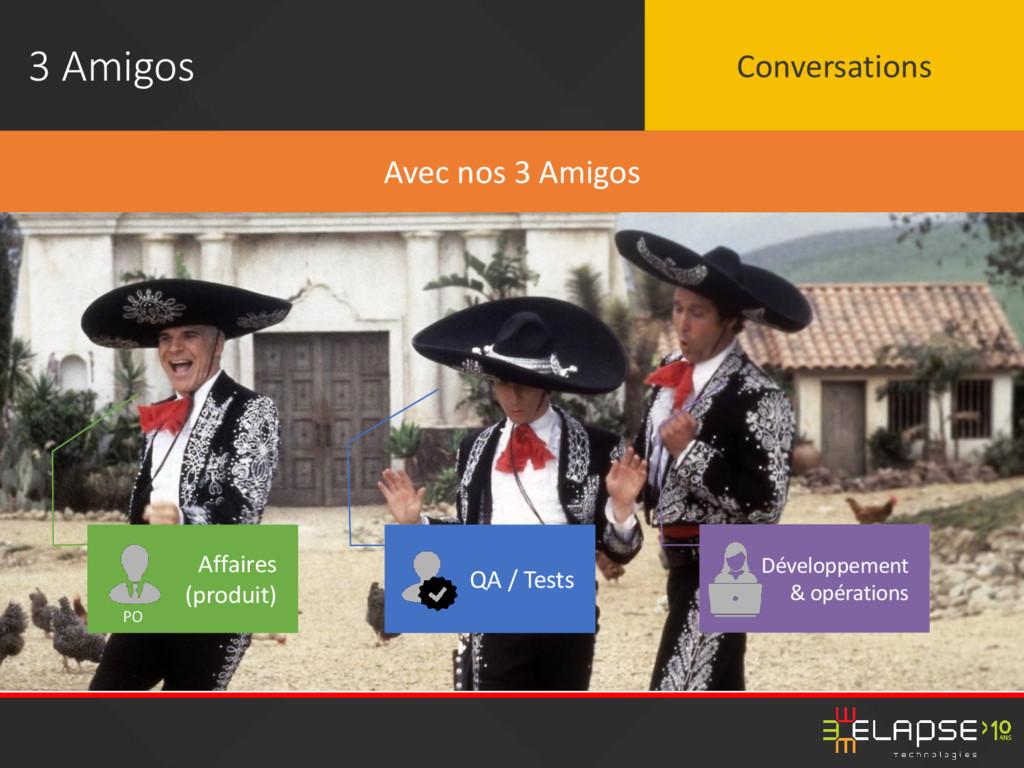 3 Amigos Affaires (produit) QA / Tests Avec nos...