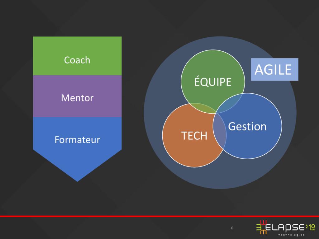 6 AGILE Coach Mentor Formateur TECH ÉQUIPE Gest...