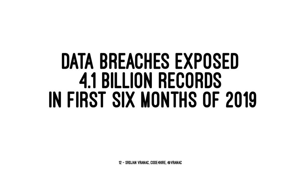 DATA BREACHES EXPOSED 4.1 BILLION RECORDS IN FI...