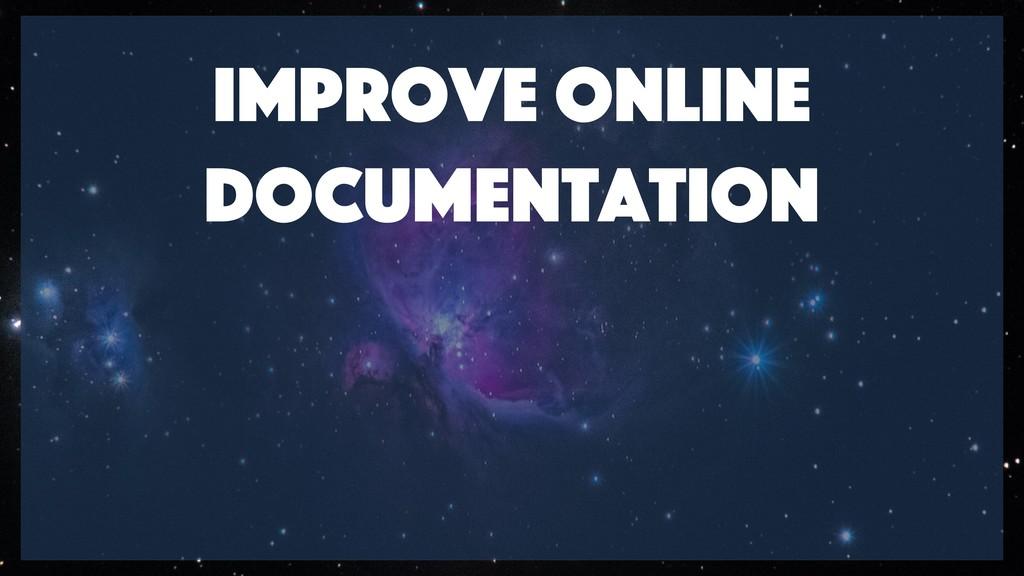Improve online documentation