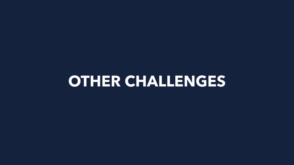OTHER CHALLENGES
