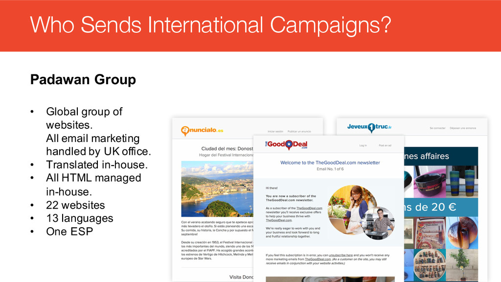 #intlemail Who Sends International Campaigns? P...
