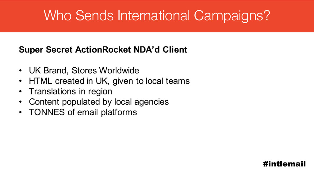 #intlemail Who Sends International Campaigns? S...