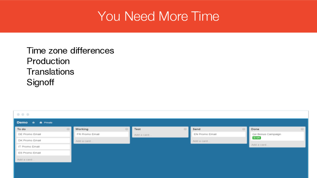#intlemail Time zone differences Production Tra...
