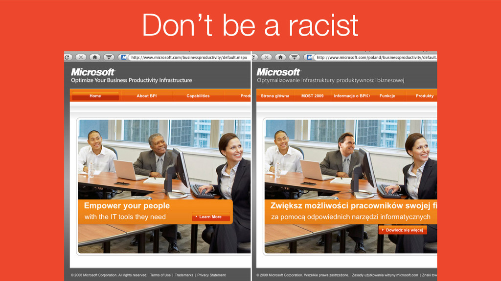 #intlemail Don't be a racist