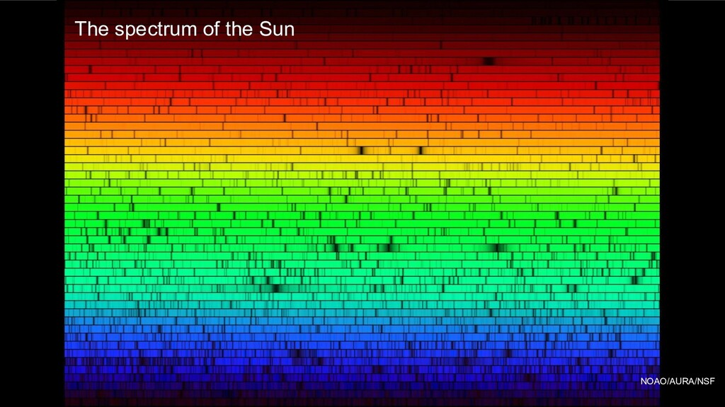 NOAO/AURA/NSF The spectrum of the Sun