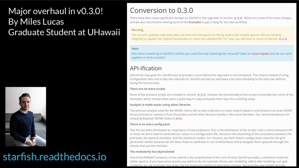 starfish.readthedocs.io Major overhaul in v0.3.0...