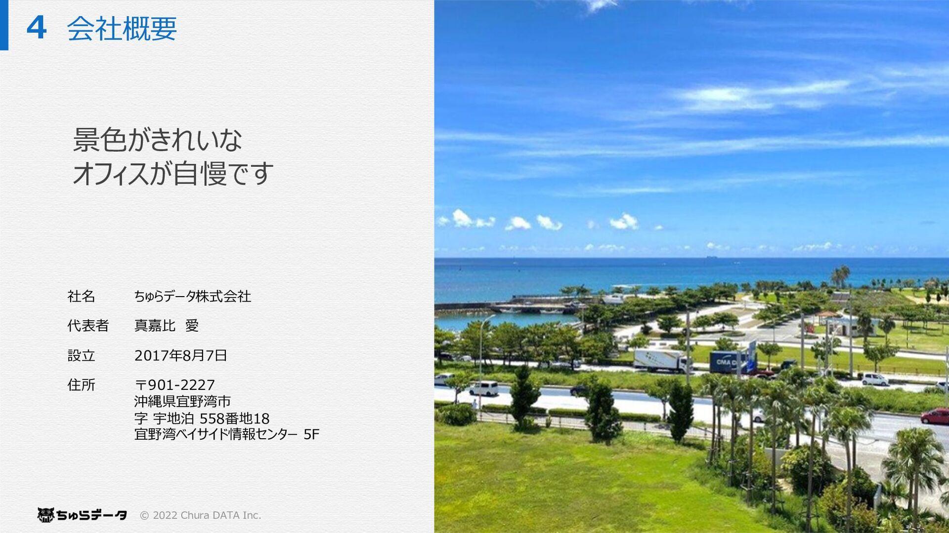 会社概要 © 2021 Chura DATA inc. PROPRIETARY & CONFI...