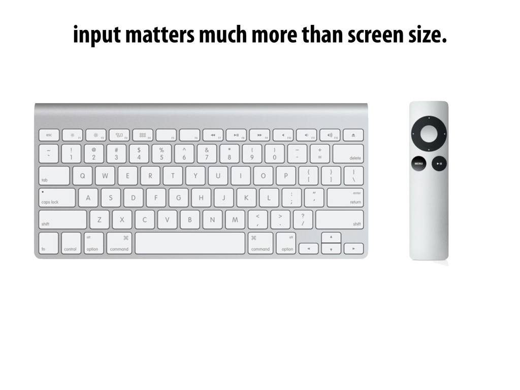 input matters much more than screen size.