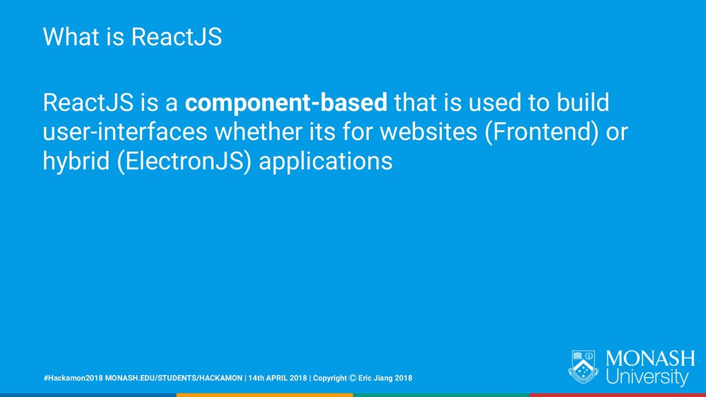What is ReactJS ReactJS is a component-based th...