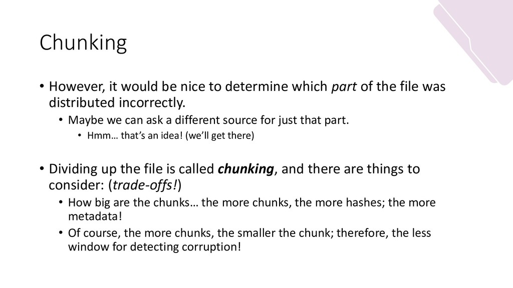 Chunking • However, it would be nice to determi...