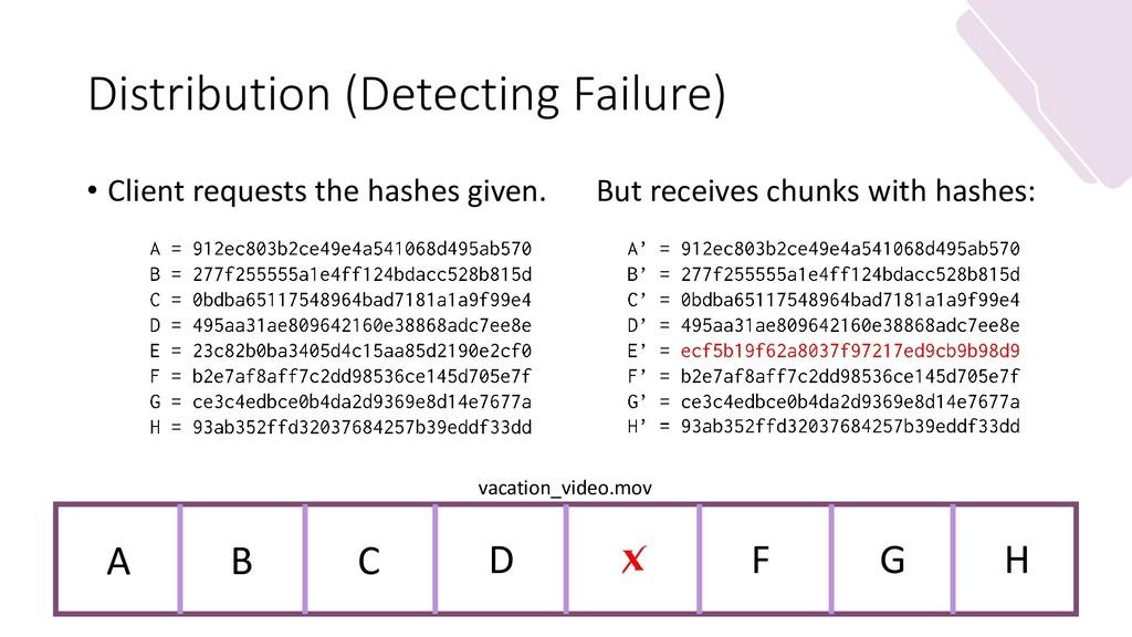 Distribution (Detecting Failure) • Client reque...