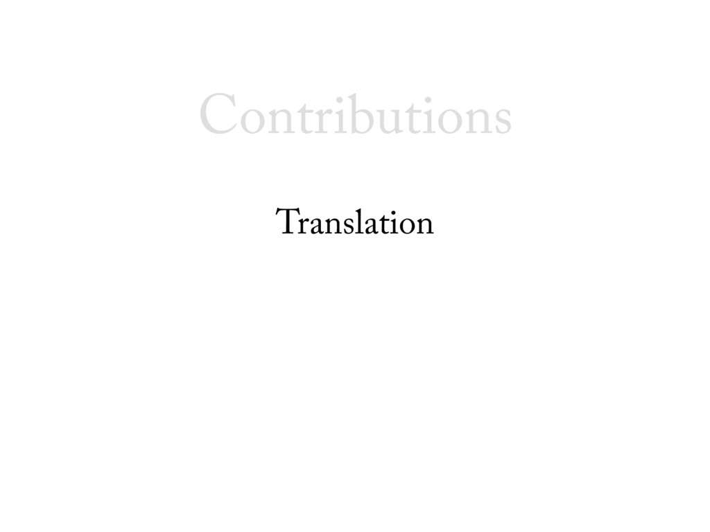 Contributions Translation