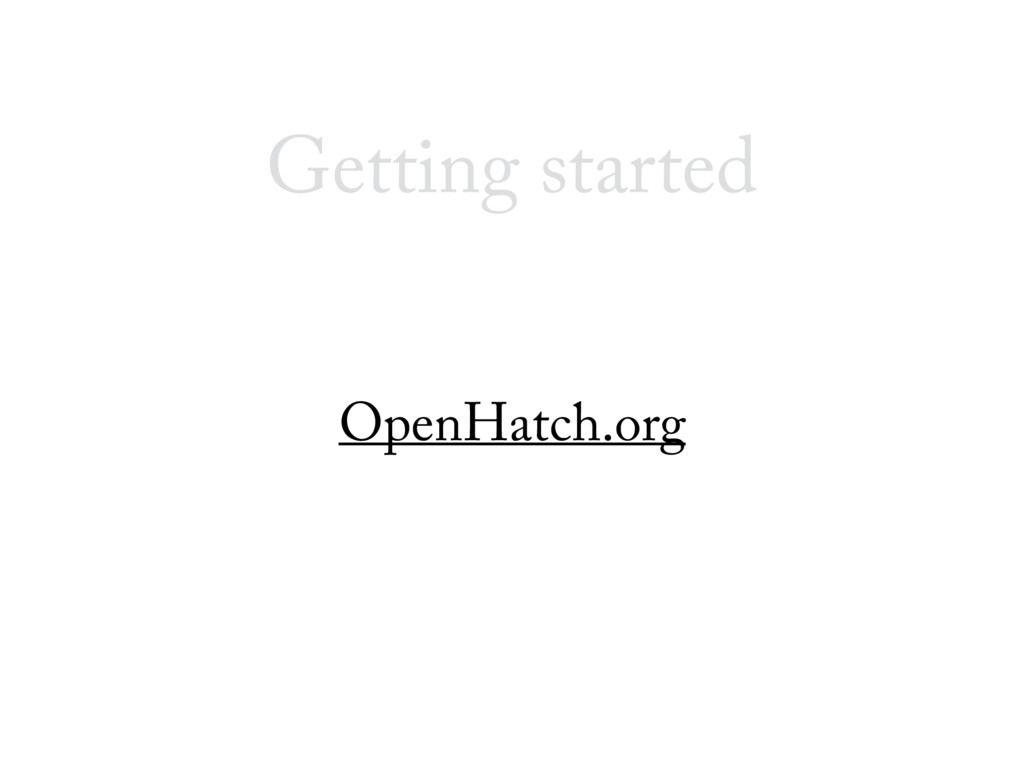 Getting started OpenHatch.org