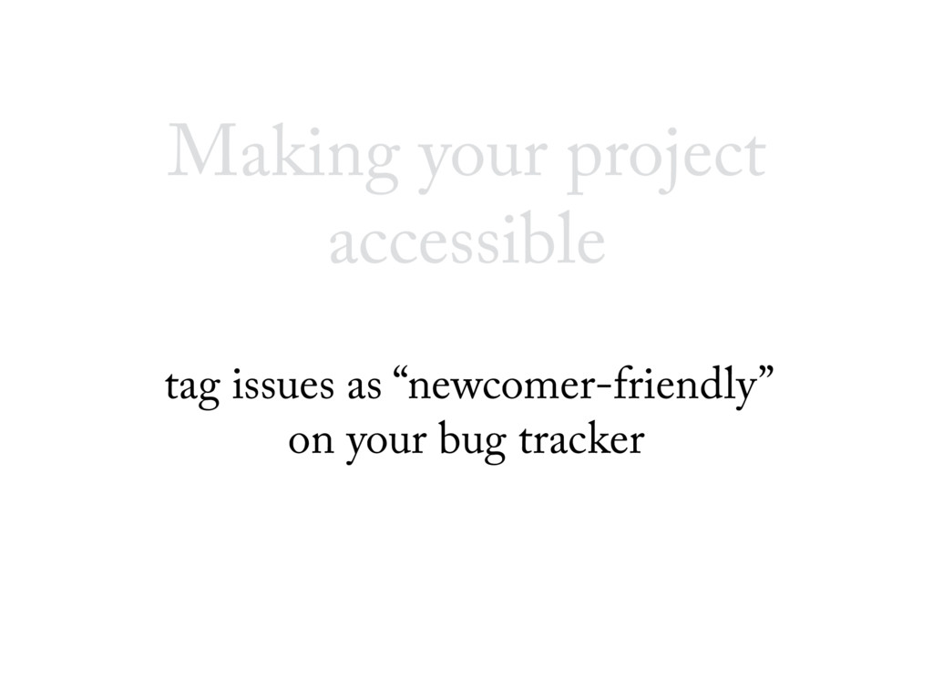 "Making your project accessible tag issues as ""n..."