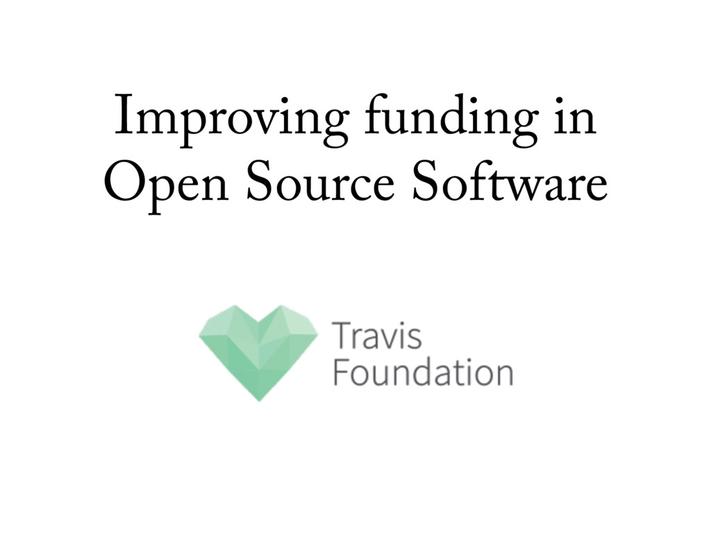 Improving funding in Open Source Software