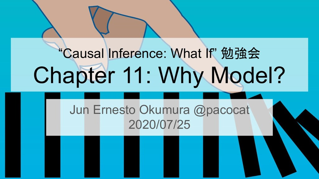 """Causal Inference: What If"" 勉強会 Chapter 11: Why..."