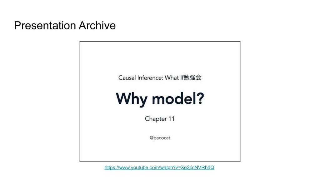 Presentation Archive https://www.youtube.com/wa...