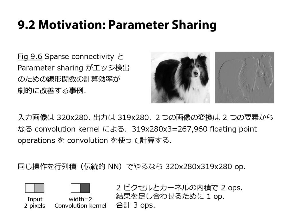 9.2 Motivation: Parameter Sharing Fig 9.6 Spars...