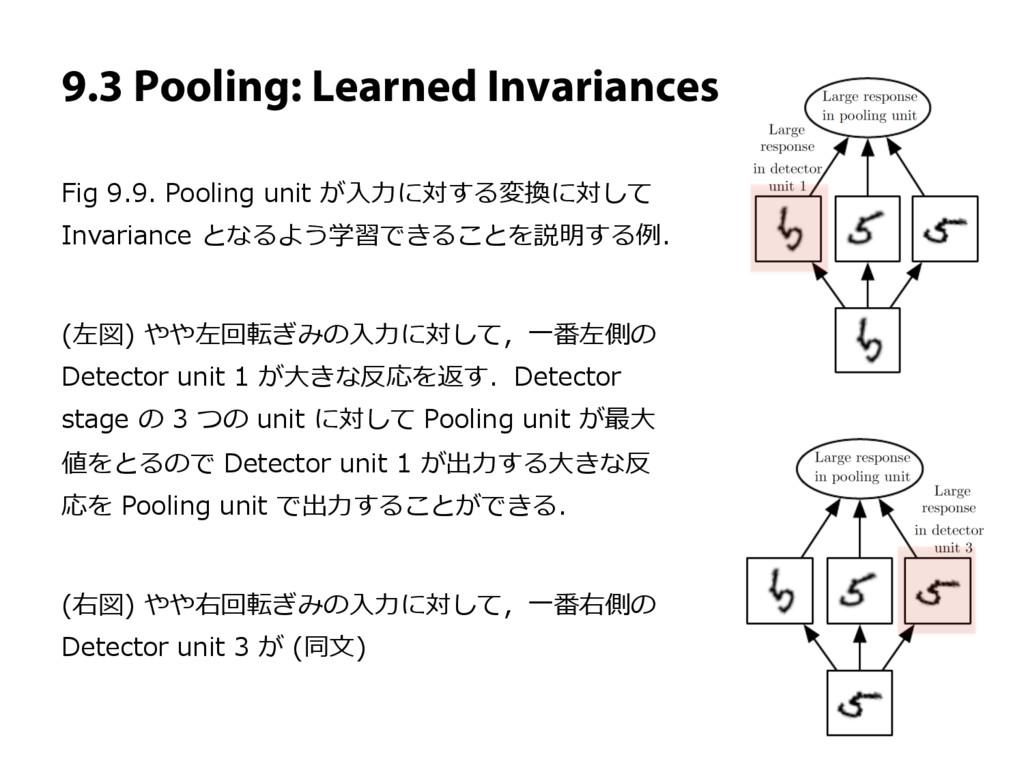 9.3 Pooling: Learned Invariances Fig 9.9. Pooli...