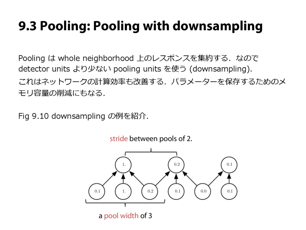 9.3 Pooling: Pooling with downsampling Pooling ...