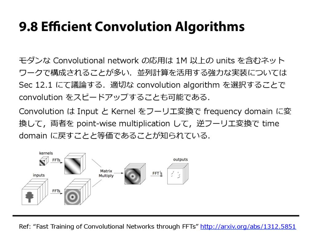 9.8 Efficient Convolution Algorithms モダンな Convolu...