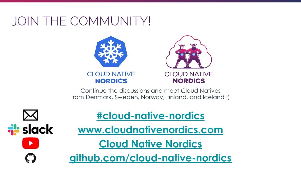 JOIN THE COMMUNITY! Continue the discussions an...