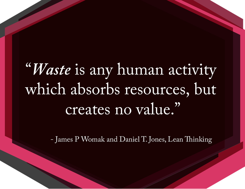 """""""Waste is any human activity which absorbs reso..."""