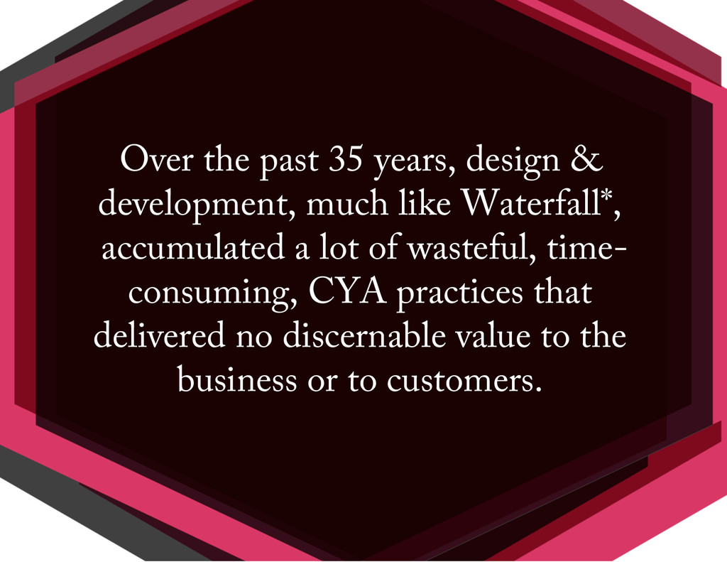Over the past 35 years, design & development, m...