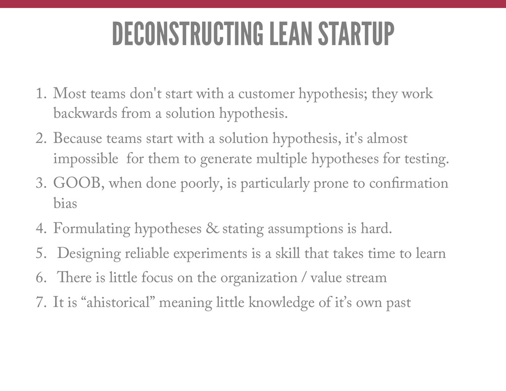 1. Most teams don't start with a customer hypo...