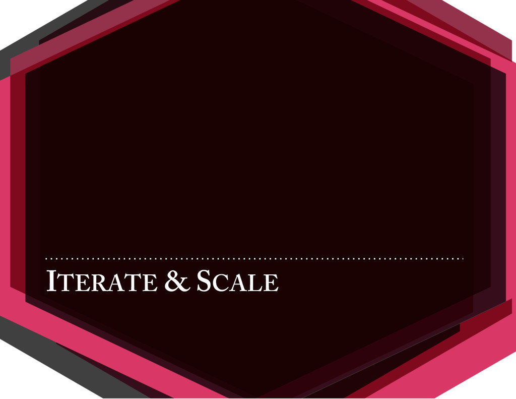 ITERATE & SCALE