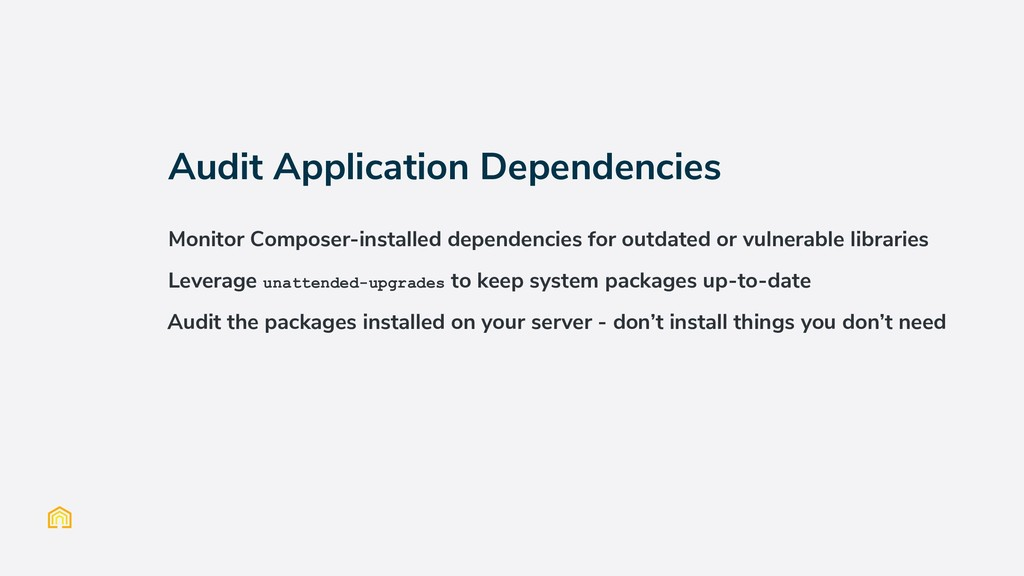 Audit Application Dependencies Monitor Composer...