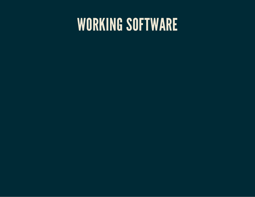 WORKING SOFTWARE