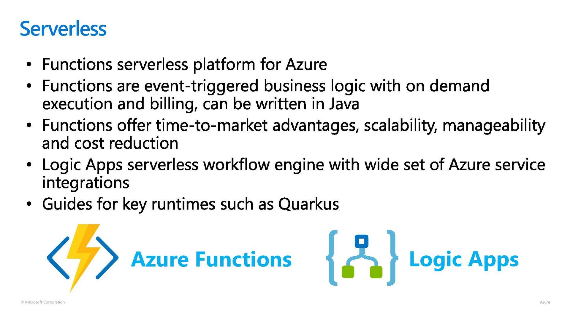 © Microsoft Corporation Serverless Azure Functi...