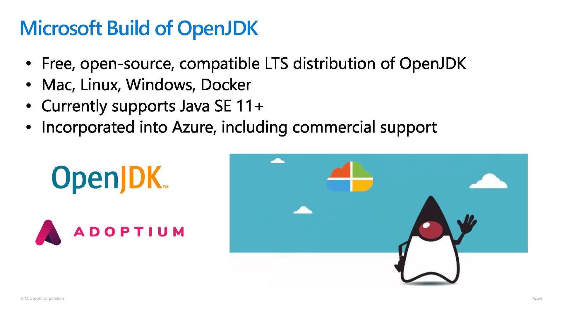 © Microsoft Corporation Microsoft Build of Open...