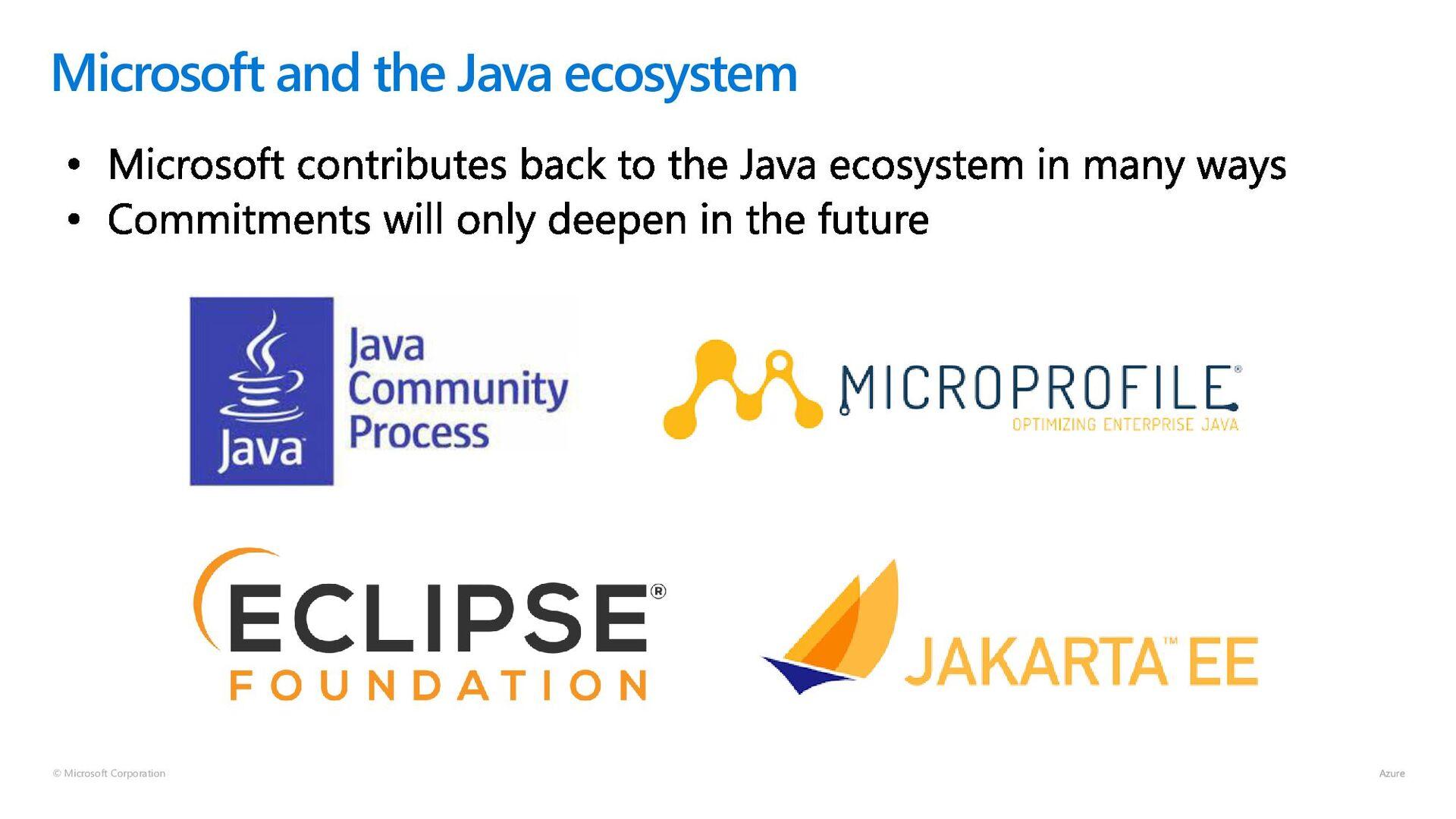 © Microsoft Corporation Java on Azure Tooling