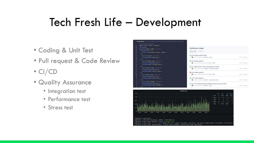 • Coding & Unit Test • Pull request & Code Revi...