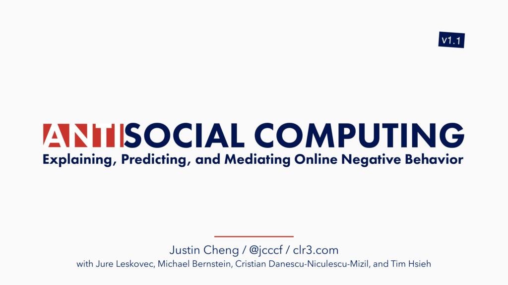 Justin Cheng / @jcccf / clr3.com with Jure Lesk...