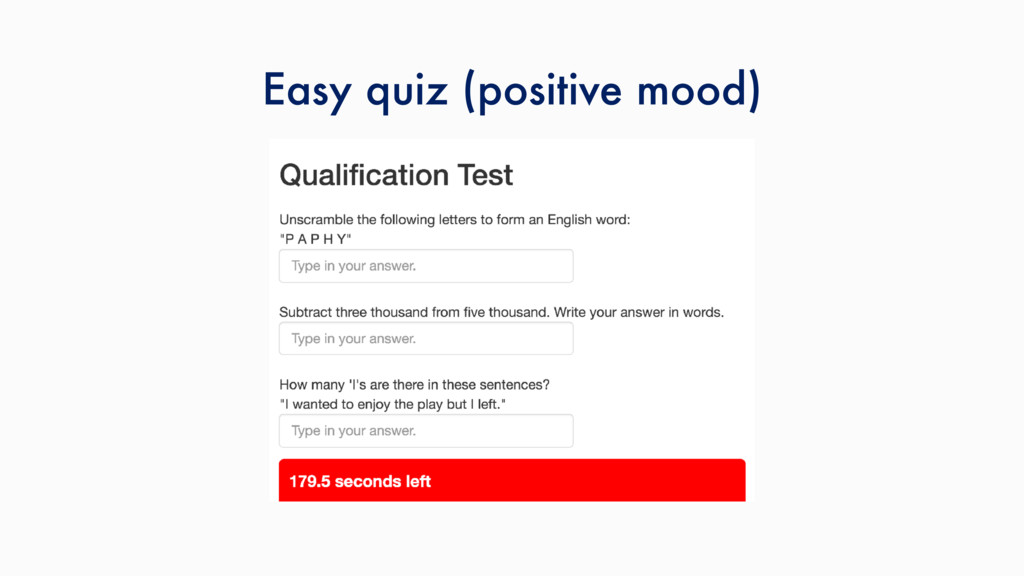 Easy quiz (positive mood)