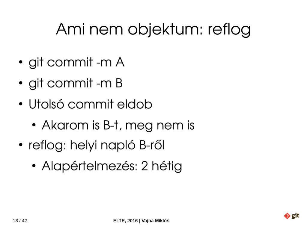 13 / 42 ELTE, 2016   Vajna Miklós Ami nem objek...
