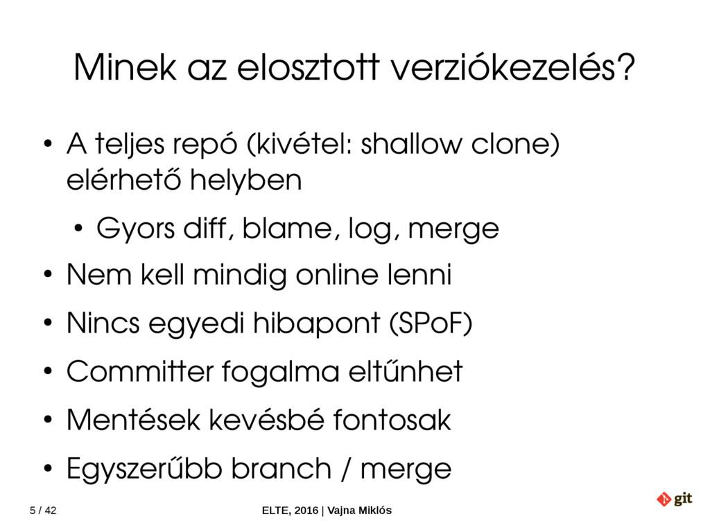 5 / 42 ELTE, 2016   Vajna Miklós Minek az elosz...