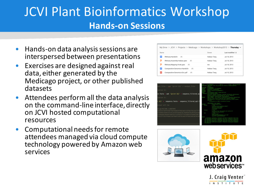 • Hands-on data analysis sessions are intersper...