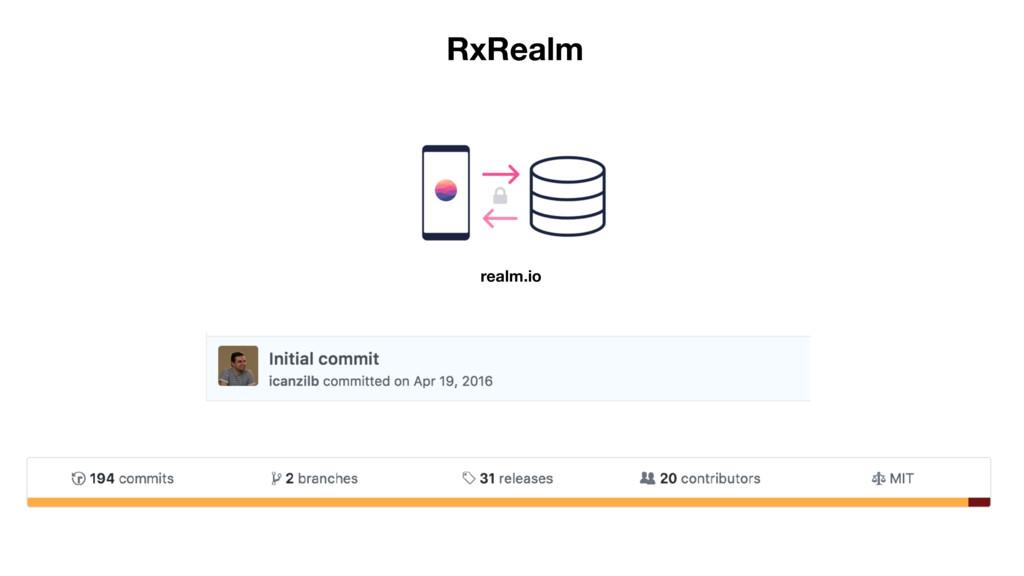 RxRealm realm.io
