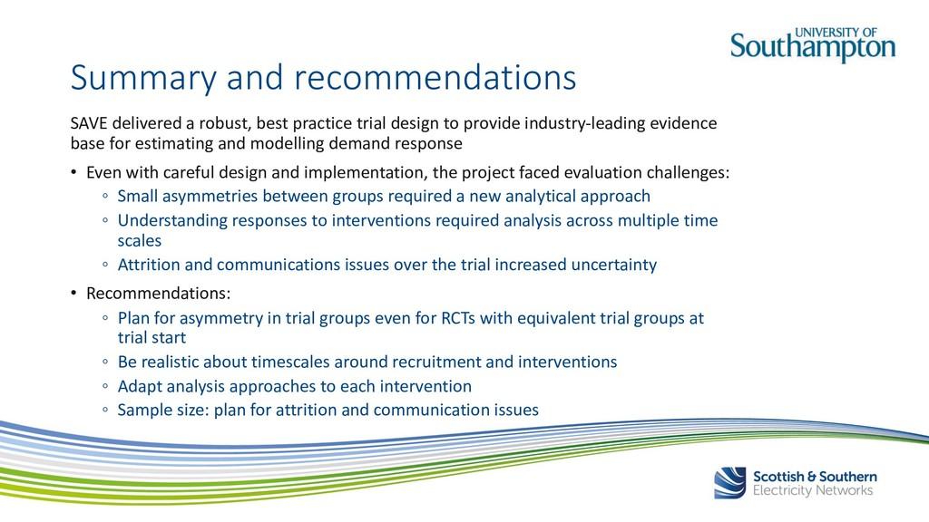 SAVE delivered a robust, best practice trial de...