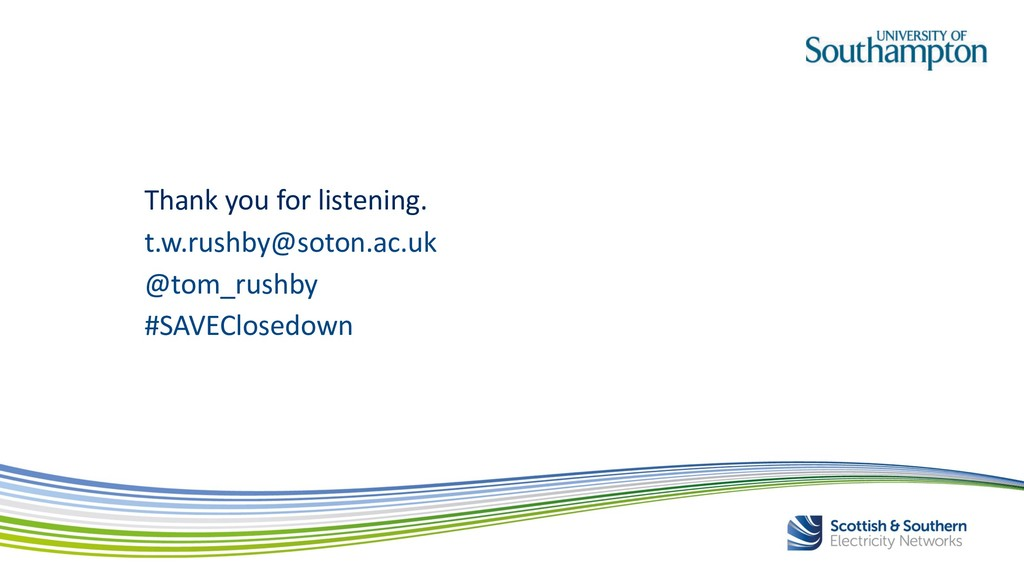 Thank you for listening. t.w.rushby@soton.ac.uk...