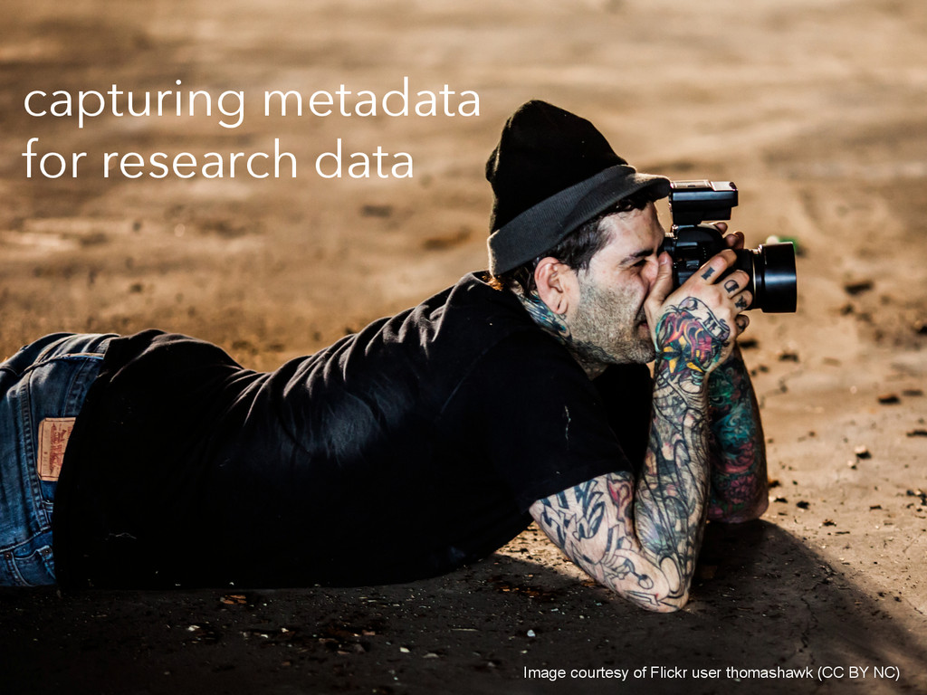 capturing metadata for research data Image cour...